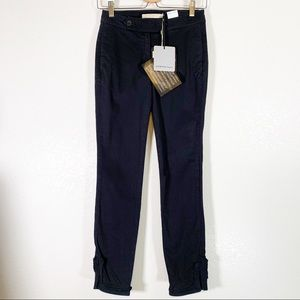 Scervino Street Black Chino Pants with Ankle Slit